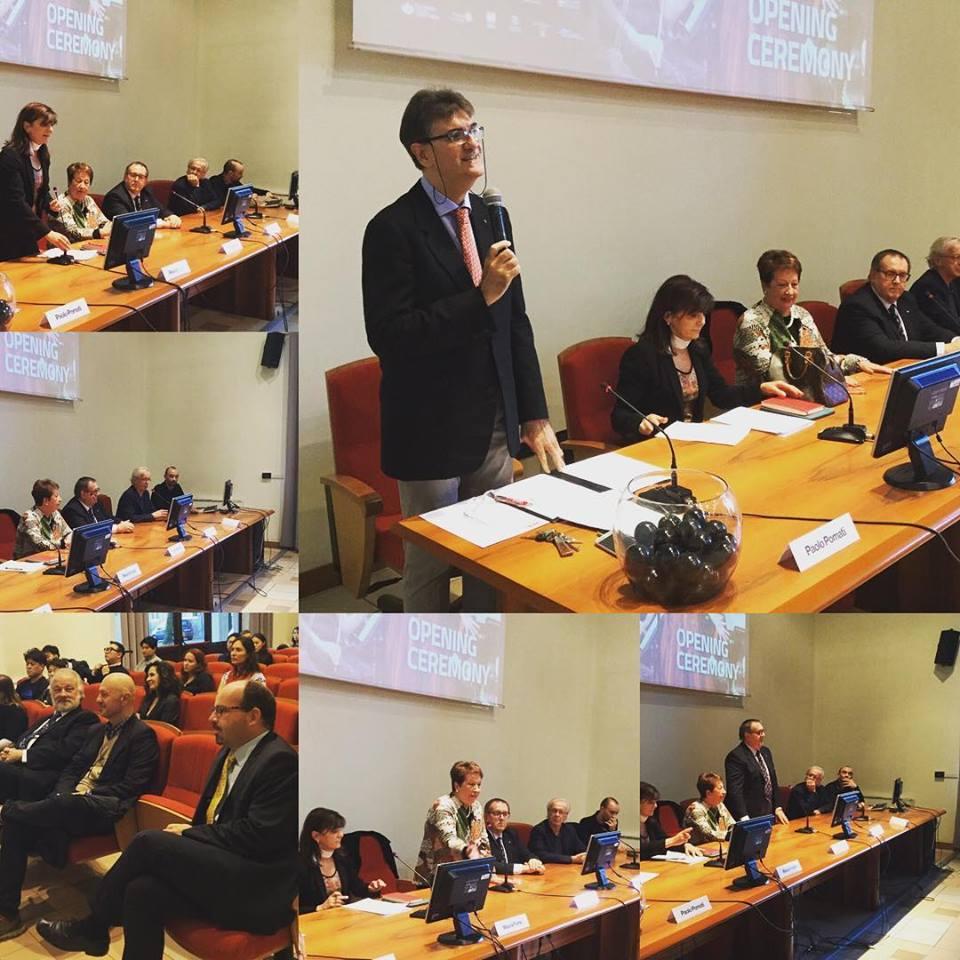 La cerimonia di inaugurazione del 67mo Concorso Viotti è in corso, i saluti delle autorità con la presentazione di Paolo Pomati