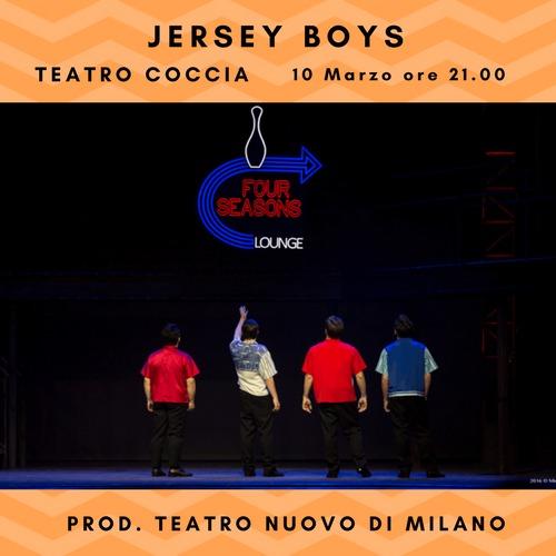 Al Teatro Coccia di Novara il pluripremiato musical Jersey Boys