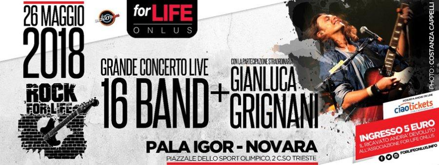 """Torna """"Rock for life"""" al Pala Igor di Novara"""