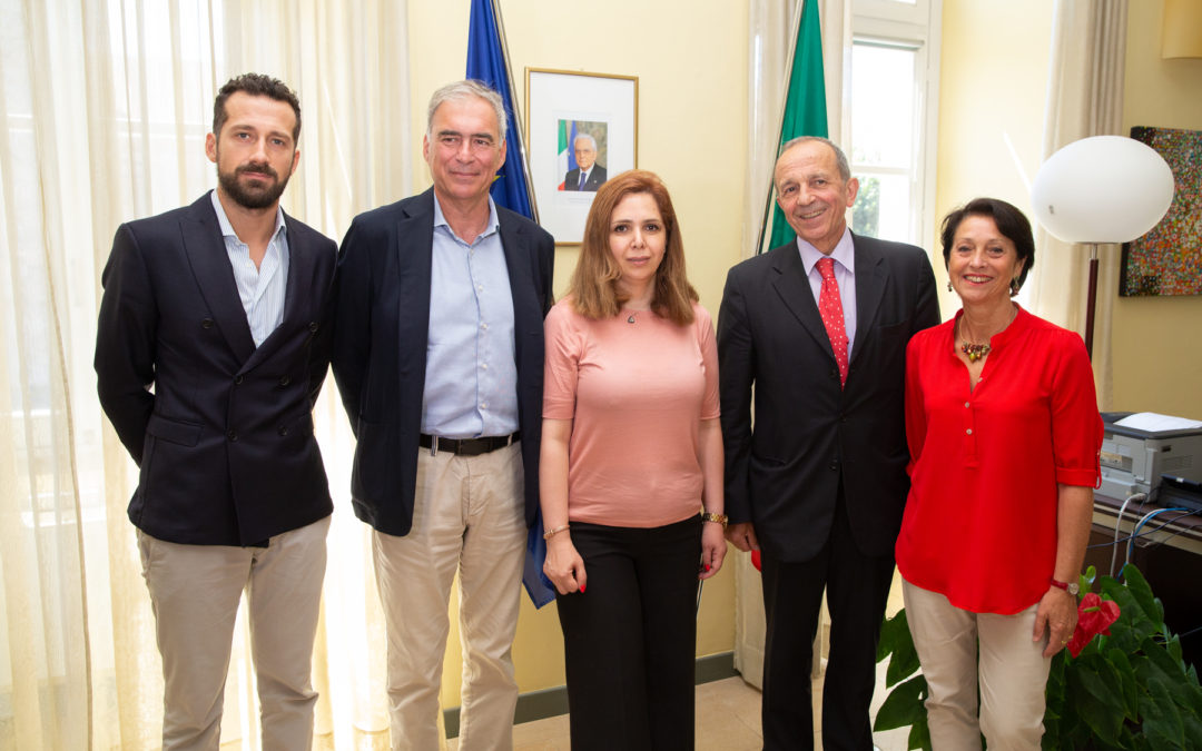 La moglie del ricercatore Ahmadreza Djalali in visita al Rettorato UPO