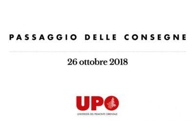 Passaggio di consegne tra i due Rettori il 26 ottobre a Vercelli