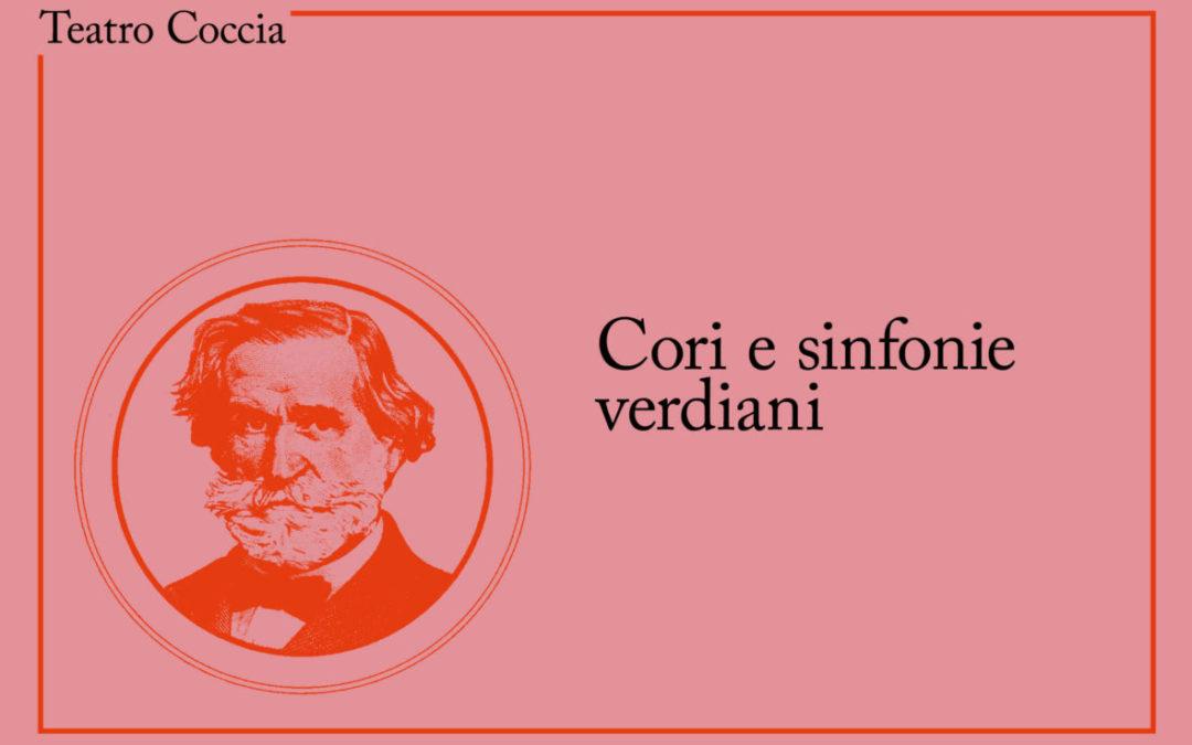 """Fine ottobre al Teatro Coccia con """"Cori e sinfonie Verdiani"""""""
