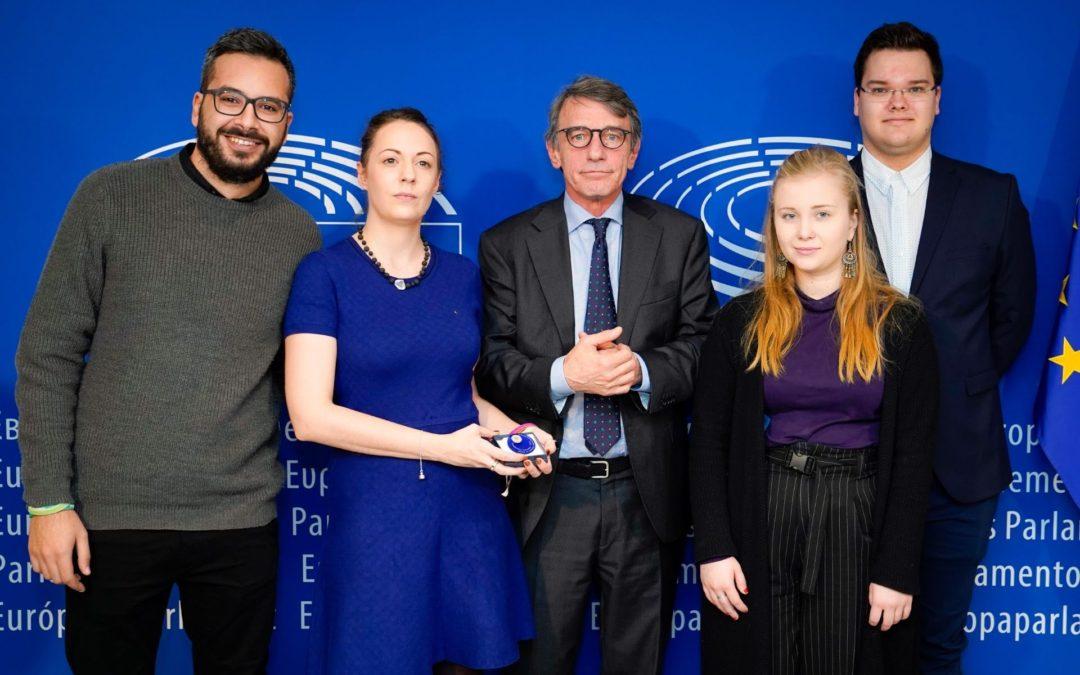 Europhonica a Bruxelles come vincitore del Premio Carlo Magno