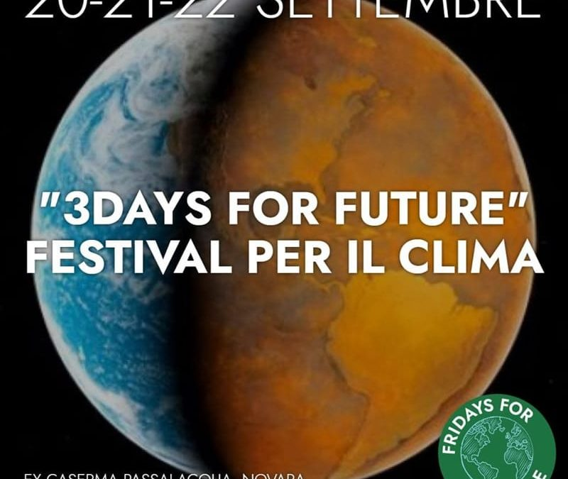 3 Days For Future: il Festival del Clima a Novara