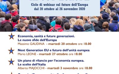 Let's talk about Europe – ciclo di webinar sul futuro dell'Europa