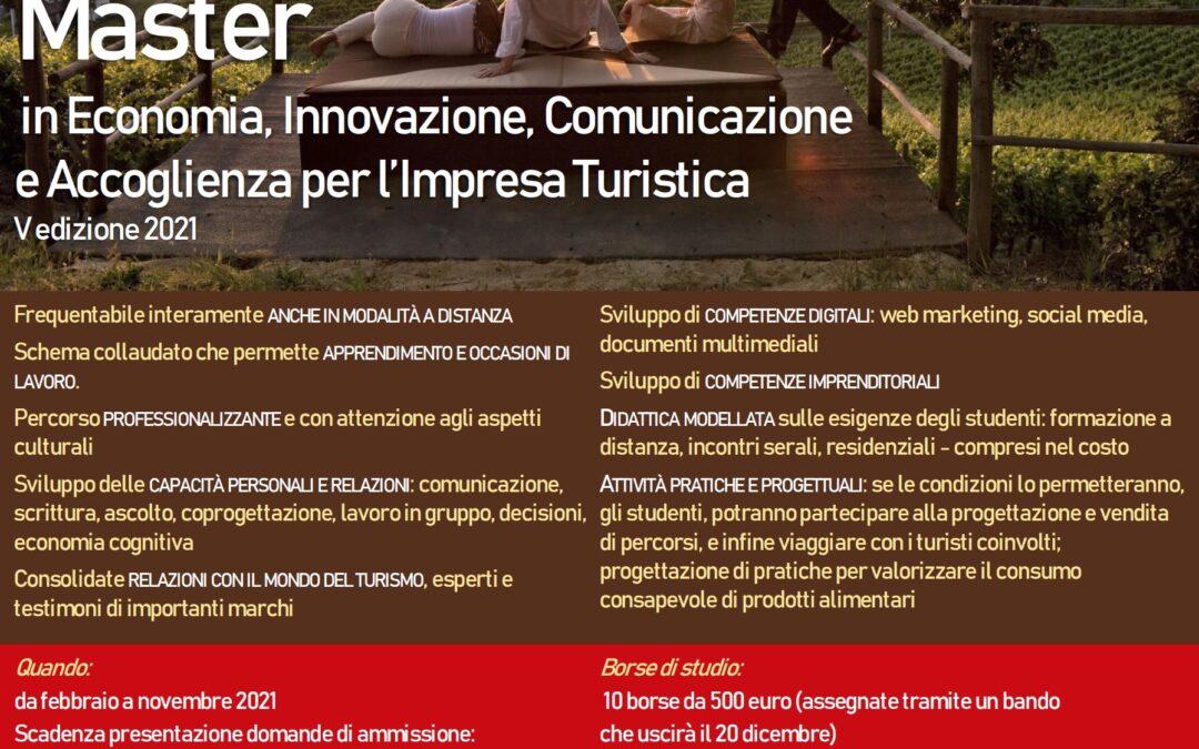 Master in Economia, Innovazione, Comunicazione e Accoglienza per l'impresa turistica
