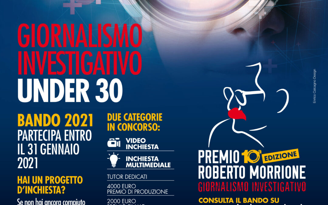 Giornalismo investigativo, Aperto bando Premio Morrione