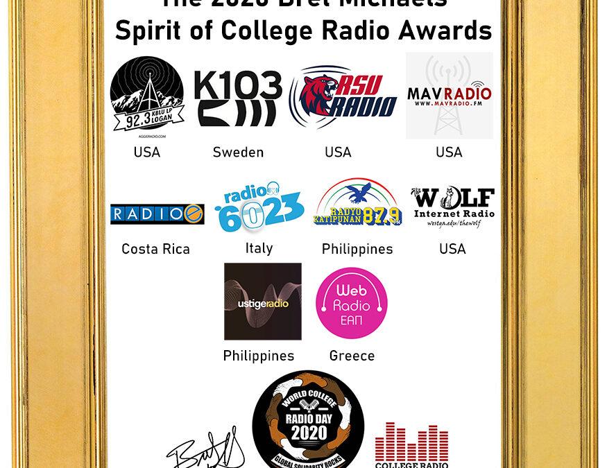Radio 6023 tra i vincitori del Bret Michaels' Spirit of College Radio Awards winners.