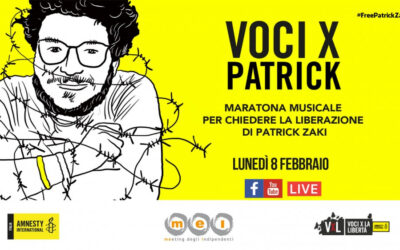 VOCI X PATRICK ZAKI, la maratona musicale per lo studente di Bologna